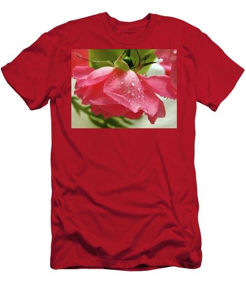 Pink Rose #3 Men's T-Shirt (Athletic Fit)