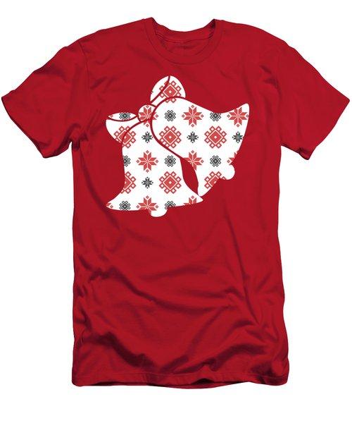 Pixel Christmas Pattern Men's T-Shirt (Athletic Fit)