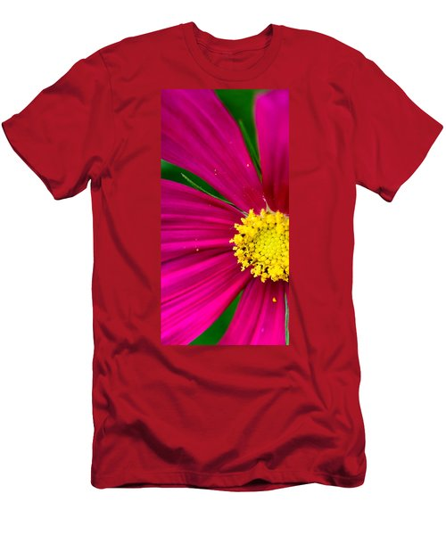 Plink Flower Closeup Men's T-Shirt (Athletic Fit)