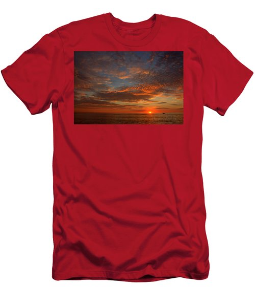 Plum Island Sunrise Men's T-Shirt (Athletic Fit)