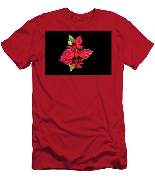 Poinsettia Reflection  Men's T-Shirt (Athletic Fit)