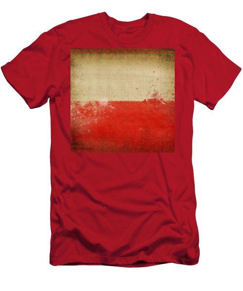Poland Flag  Men's T-Shirt (Athletic Fit)