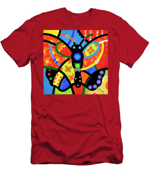 Kaleidoscope Butterfly Men's T-Shirt (Athletic Fit)