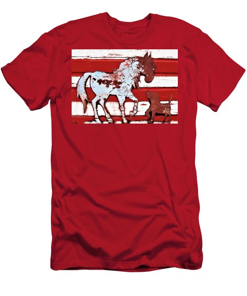 Pony And Pup Men's T-Shirt (Athletic Fit)