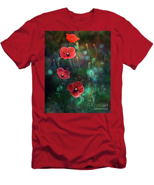 Poppies Fairytale Men's T-Shirt (Slim Fit) by Agnieszka Mlicka