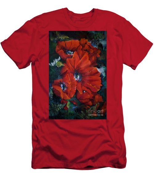 Poppies In Light IIi Men's T-Shirt (Athletic Fit)
