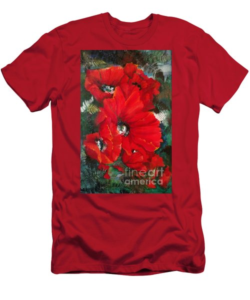 Poppies In Light Men's T-Shirt (Athletic Fit)