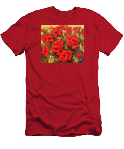 Poppies Passion Fragment Men's T-Shirt (Slim Fit) by Inese Poga
