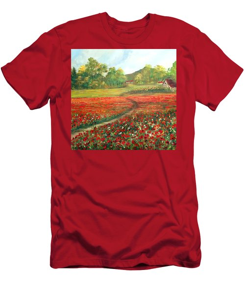 Poppies Time Men's T-Shirt (Athletic Fit)