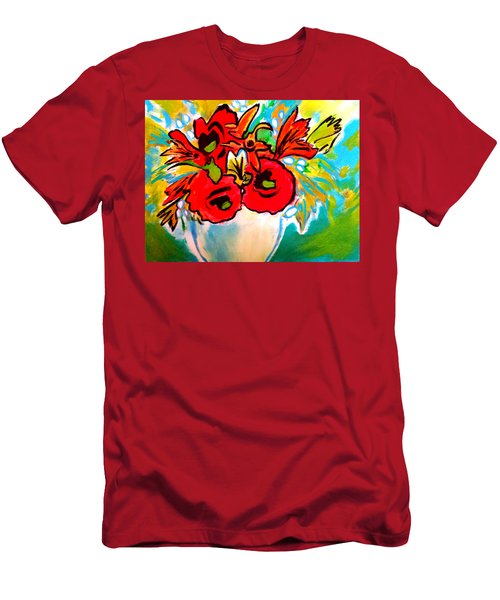 Poppy Bouquet Reworked Men's T-Shirt (Athletic Fit)