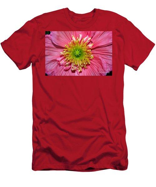 Poppy Men's T-Shirt (Slim Fit) by Vivian Krug Cotton