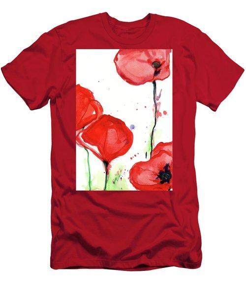 Poppyred Men's T-Shirt (Athletic Fit)