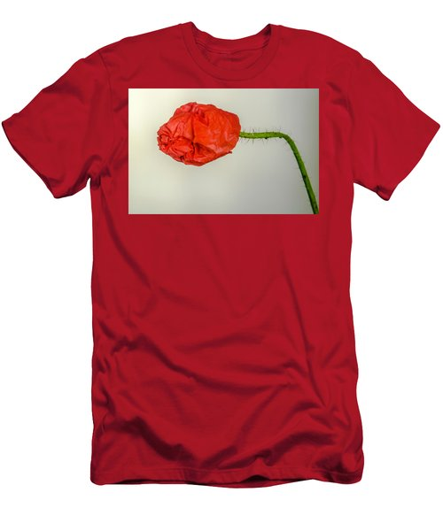 Posing Fire Red Poppy Men's T-Shirt (Athletic Fit)