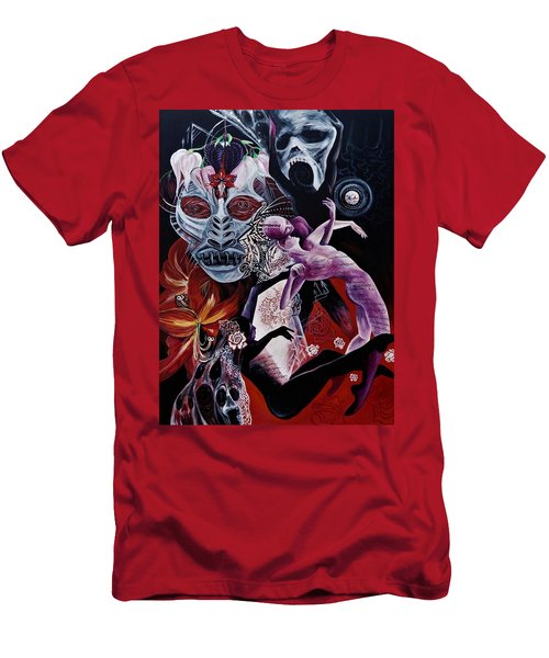Postcard From Death Men's T-Shirt (Slim Fit) by Yelena Tylkina