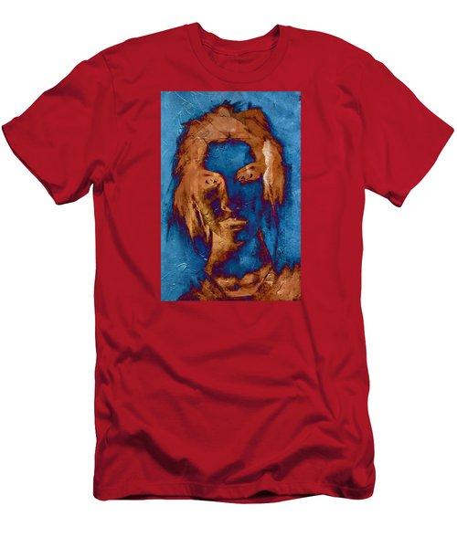 Posterized Portrait Men's T-Shirt (Slim Fit) by Andrea Barbieri