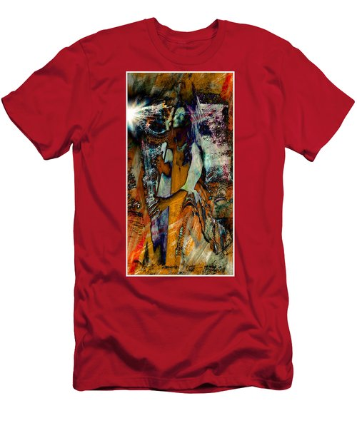 Praise Him With The Harp IIi Men's T-Shirt (Slim Fit) by Anastasia Savage Ealy