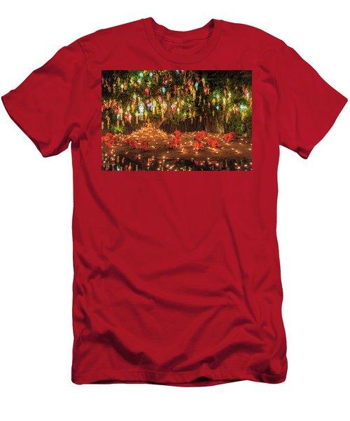 Men's T-Shirt (Athletic Fit) featuring the photograph Prayers by Pradeep Raja Prints