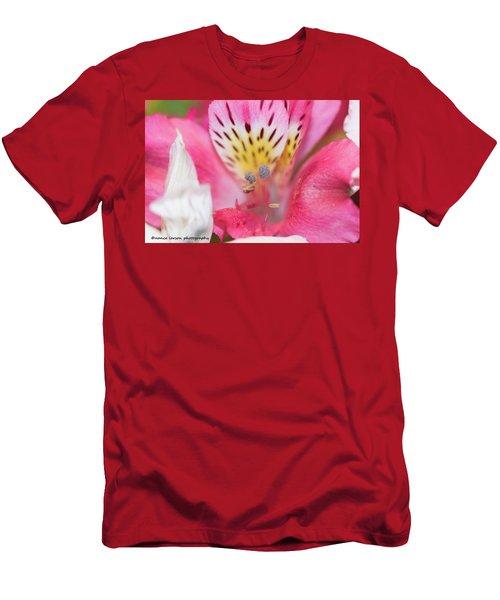 Pretty Pink Men's T-Shirt (Slim Fit) by Nance Larson