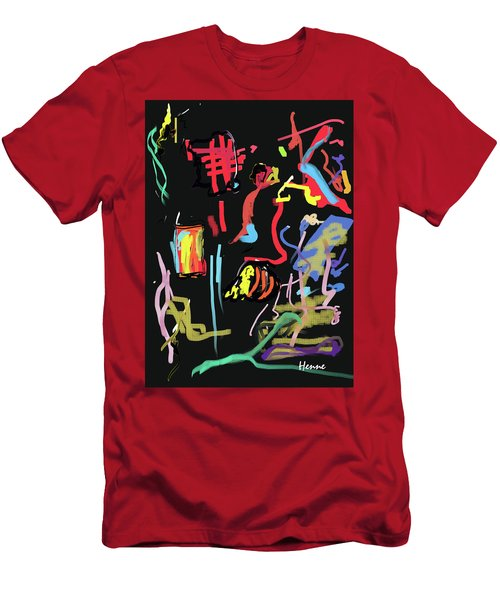 Progress Of A Small Experiment Men's T-Shirt (Slim Fit) by Robert Henne