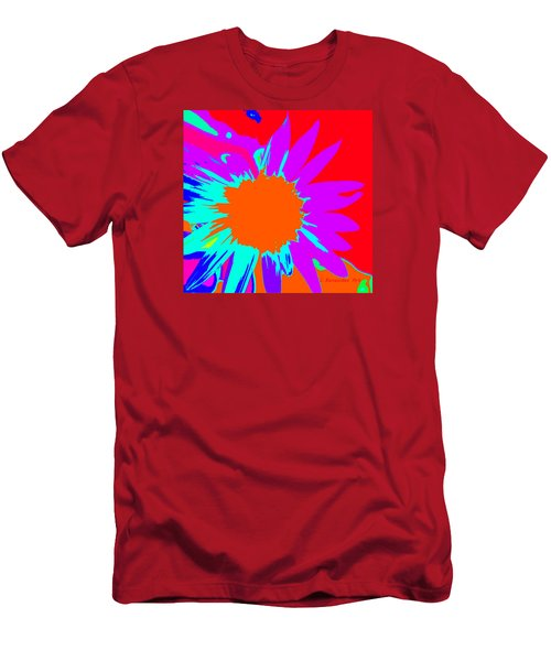 Psychedelic Sunflower Men's T-Shirt (Athletic Fit)