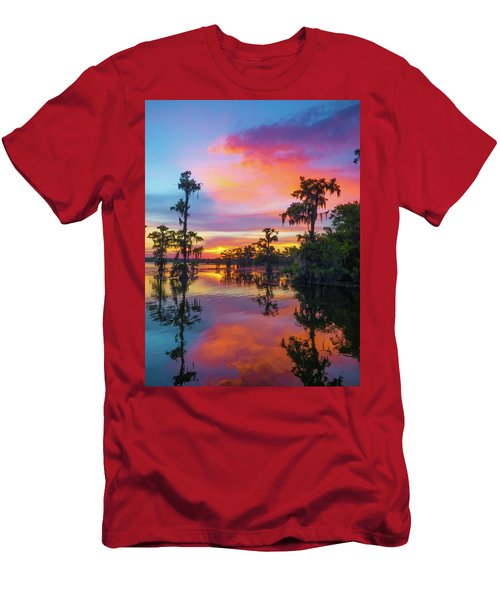 Psychedelic Swamp Men's T-Shirt (Slim Fit) by Kimo Fernandez