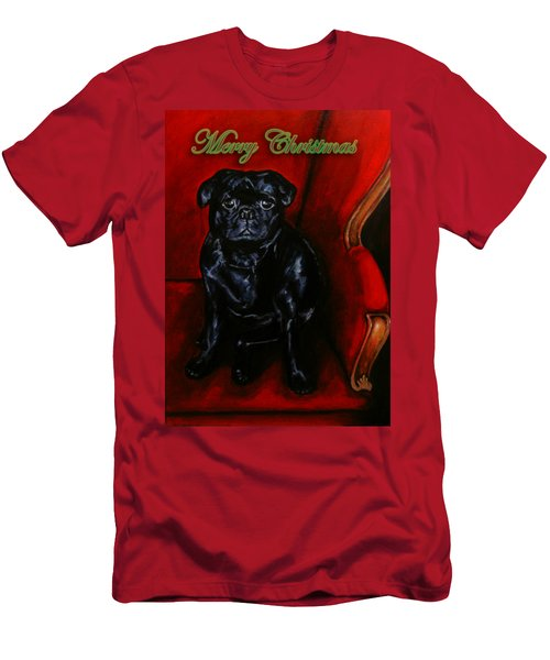 Puggsley Christmas Men's T-Shirt (Athletic Fit)