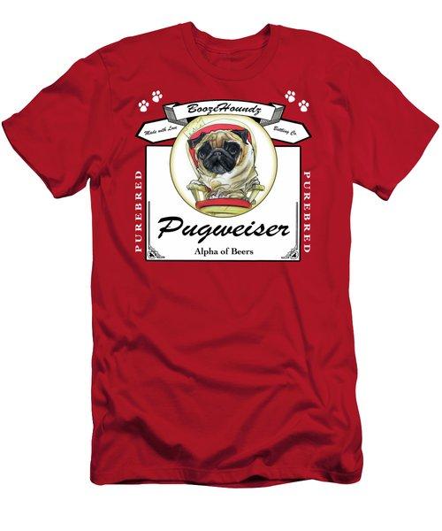 Pugweiser Beer Men's T-Shirt (Athletic Fit)