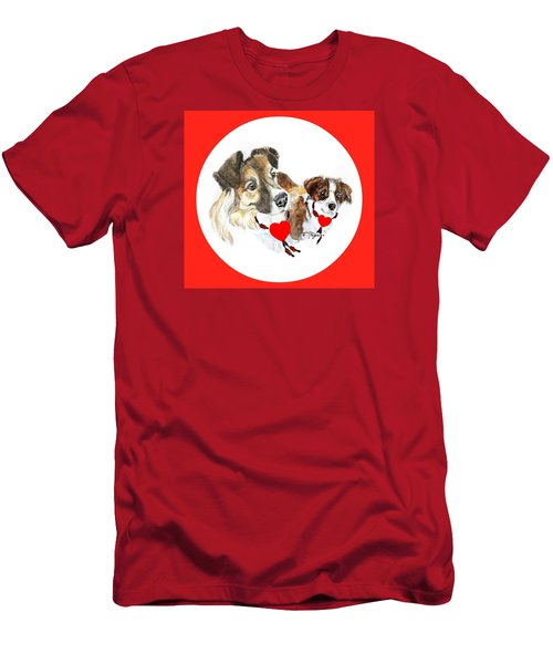 Puppy Christmas Men's T-Shirt (Athletic Fit)