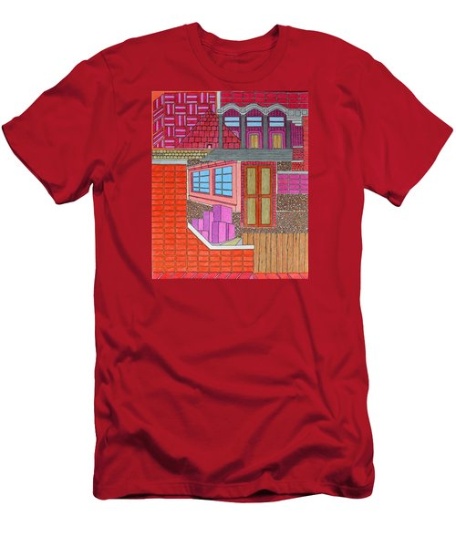 Purple Buildings Men's T-Shirt (Athletic Fit)