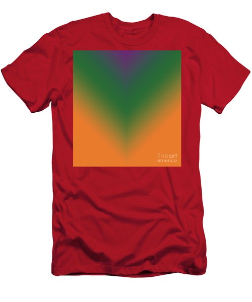 Purple, Green And Orange Men's T-Shirt (Athletic Fit)