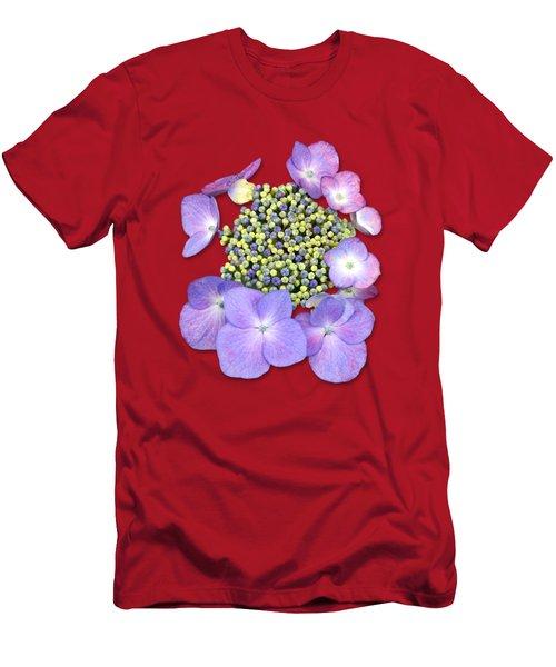 Purple Pods Sehemu Mbili Unyenyekevu Men's T-Shirt (Athletic Fit)