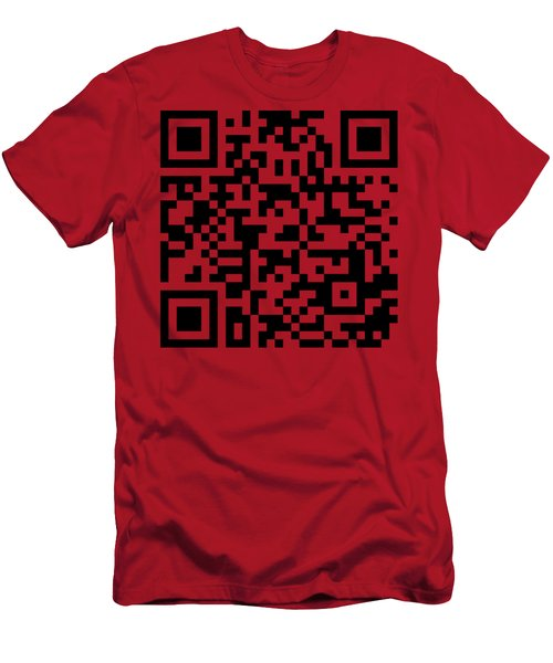 Qr Codes - Code Red Men's T-Shirt (Athletic Fit)