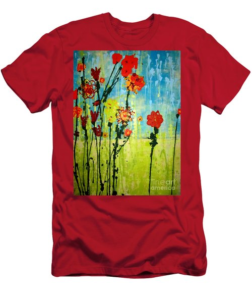 Men's T-Shirt (Slim Fit) featuring the painting Rain Or Shine by Ashley Price