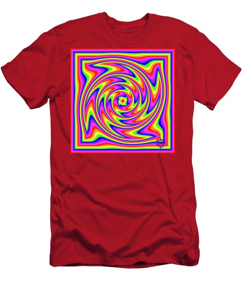 Men's T-Shirt (Athletic Fit) featuring the digital art Rainbow #2 by Barbara Tristan