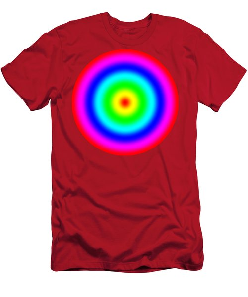 Rainbow Circles Men's T-Shirt (Athletic Fit)