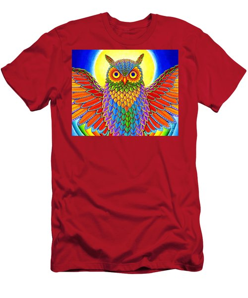 Rainbow Owl Men's T-Shirt (Athletic Fit)