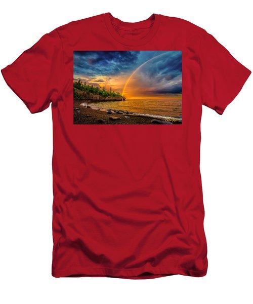 Rainbow Point Men's T-Shirt (Athletic Fit)