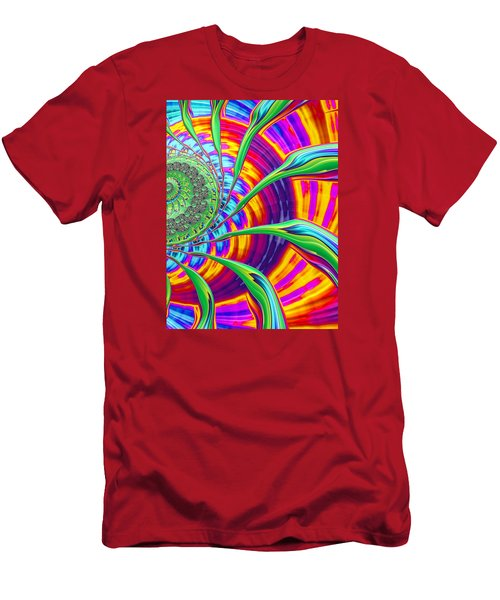 Rainbow Sun Men's T-Shirt (Athletic Fit)