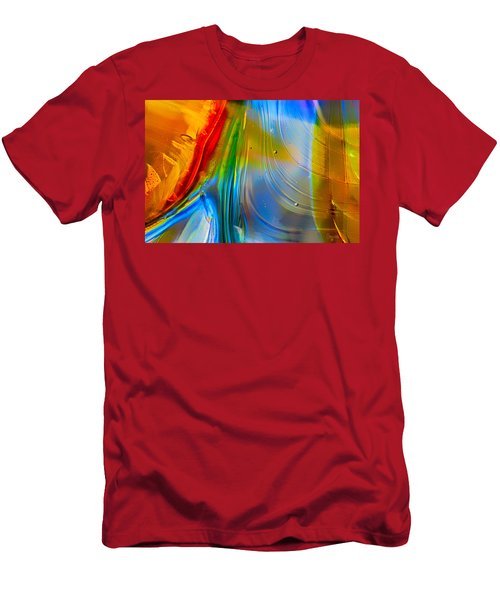 Rainbow Waterfalls Men's T-Shirt (Athletic Fit)