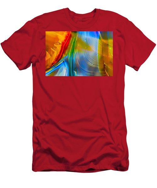 Rainbow Waterfalls Men's T-Shirt (Athletic Fit)