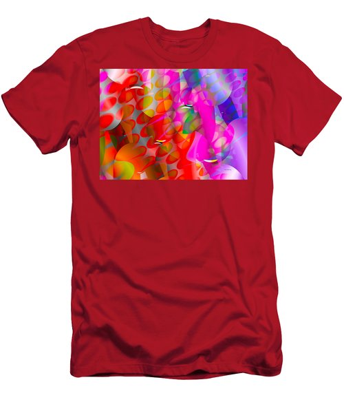 Men's T-Shirt (Slim Fit) featuring the digital art Rainy Day Girl by Robert Orinski