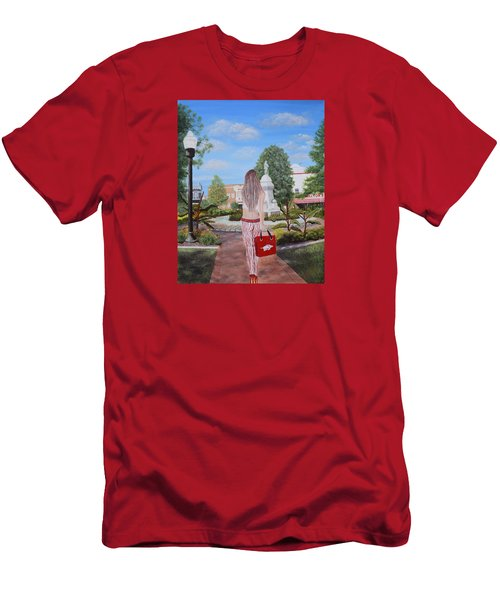 Razorback Swagger At Bentonville Square Men's T-Shirt (Slim Fit) by Belinda Nagy