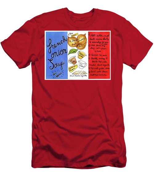 Recipe French Onion Soup Men's T-Shirt (Slim Fit)