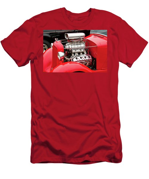 Men's T-Shirt (Slim Fit) featuring the photograph Red 1992 by Guy Whiteley