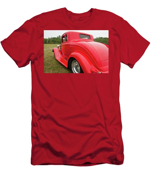 Men's T-Shirt (Slim Fit) featuring the photograph Red 1994 by Guy Whiteley