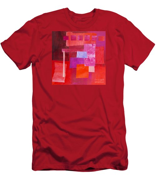 Red 2 Men's T-Shirt (Slim Fit) by Elena Nosyreva