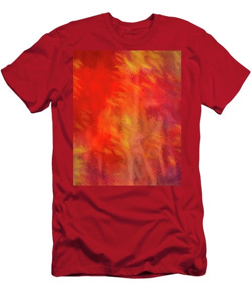 Red Abstract Men's T-Shirt (Athletic Fit)
