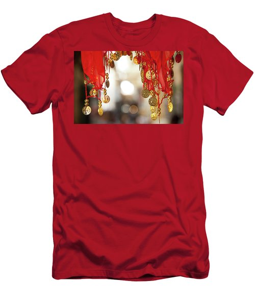Red And Gold Entrance To Market Men's T-Shirt (Slim Fit) by Yoel Koskas