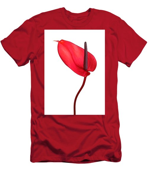 Red Anthrium Men's T-Shirt (Athletic Fit)