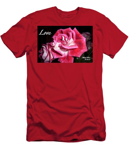 Red Beauty 3 - Love Men's T-Shirt (Athletic Fit)
